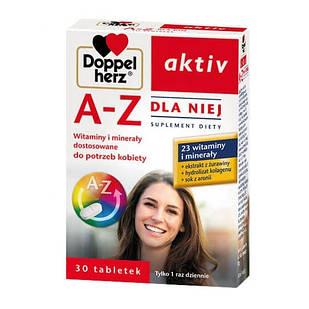Doppelherz Aktiv, A-Z витаминно-минеральный комплекс для женщин   30 таблеток