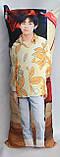 Дакімакура Подушка обнімашка 100х40 см із знімною наволочкою BTS. Тэхен, фото 2