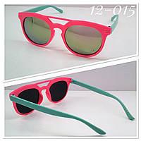 Детские яркие солнцезащитные очки зеркальные линзы