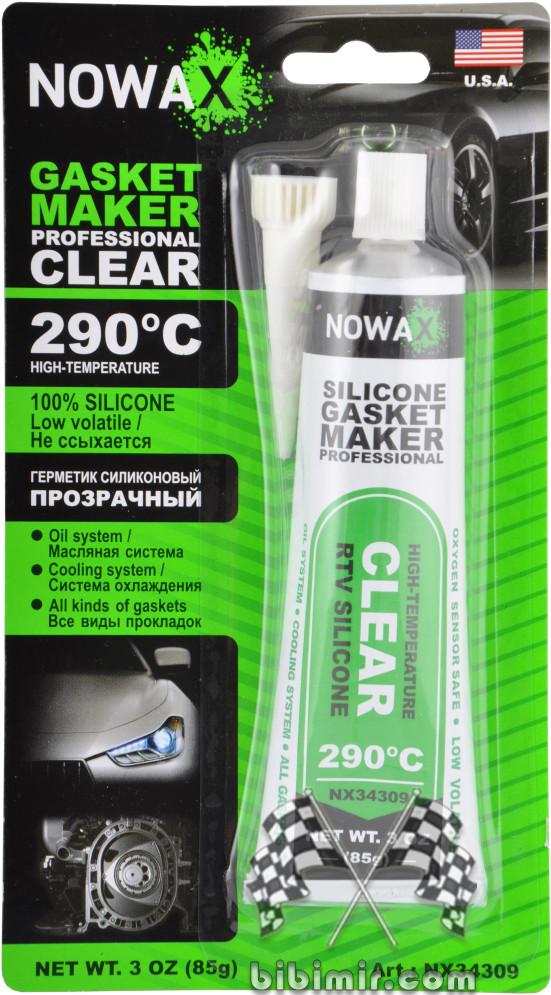 прозрачный силиконовый герметик nowax