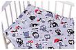 Детское постельное сменное белье в кроватку / в манеж Qvatro Gold 3в1: наволочка, пододеяльник, простынь, фото 5