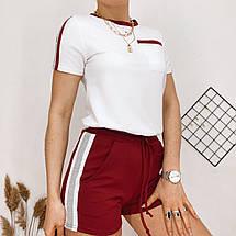 Летний женский спортивный костюм, футболка с шортами, 4 цвета, р.44-46,46-48  код 181Р, фото 2