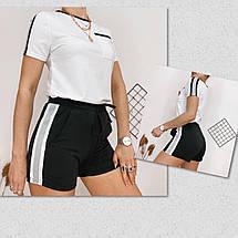 Летний женский спортивный костюм, футболка с шортами, 4 цвета, р.44-46,46-48  код 181Р, фото 3