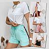 Летний женский спортивный костюм, футболка с шортами, 4 цвета, р.44-46,46-48  код 181Р, фото 4