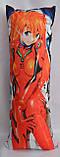 Дакімакура Подушка обнімашка 100х40 см із змінною наволочкою Евангелион, фото 2