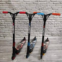 Самокат Трюковый Viper HIPE - X металические колеса (синий, красный, оранжевый)