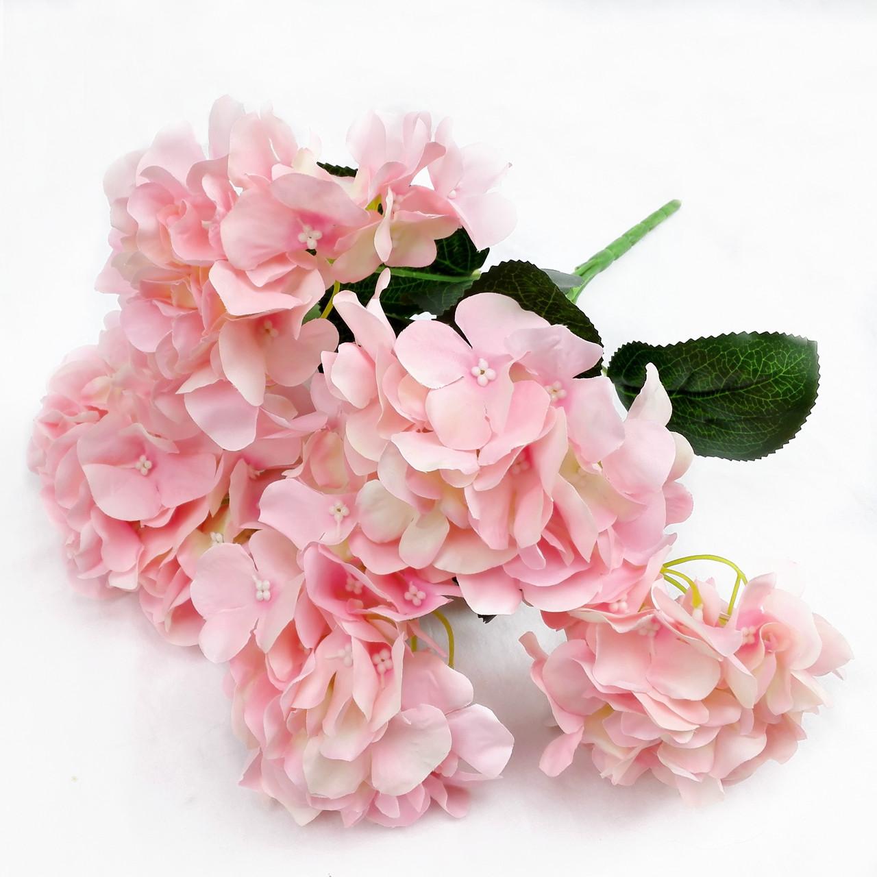 Букет гортензии 6 голов. Нежно Розовый. 40 см