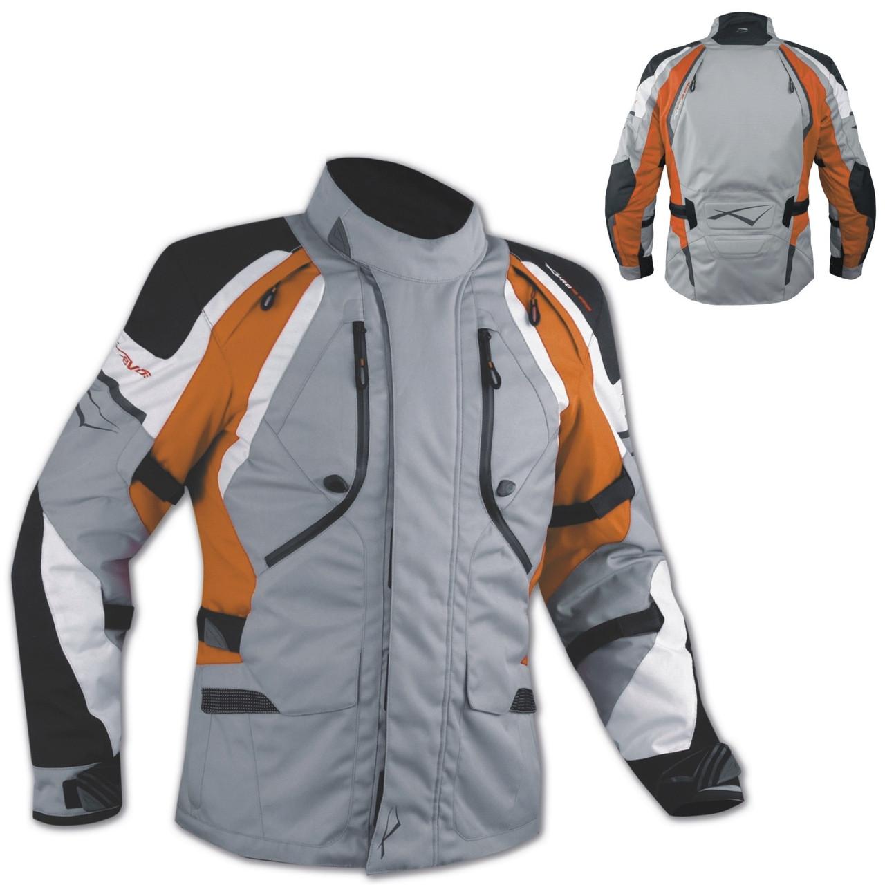 Куртка Внедорожный Мотоцикл Водонепроницаемый Ткани Защиты CE воздухозаборники Оранжевый