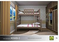 Кровать Комби-2 Массив ДУБ