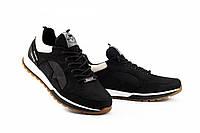 Мужские кроссовки кожаные весна/осень черные Splinter V2 1119