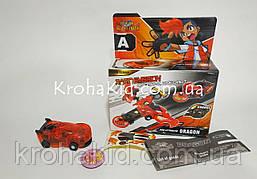 Машинка красная дикие скричеры Рева Дактиль Screechers Wild BD1015 прыжок на 360 (красный)