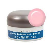 LED/UV Builder Gel Pink III, 14 мл. - конструирующий камуфлирующий розовый гель