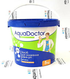 Хімія для басейну AquaDoctor pH Minus   засіб для зменшення рівня pH у гранулах (5 кг)