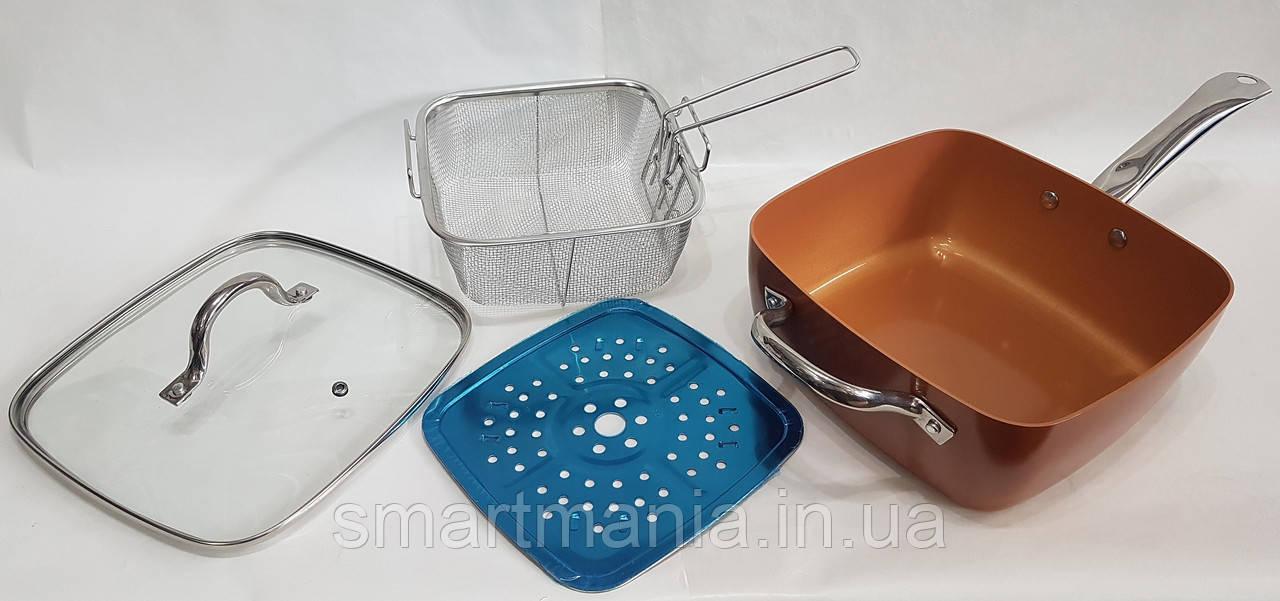 Сковорідка-фритюрниця 8 в 1 UNIQUE UN-5251-24см
