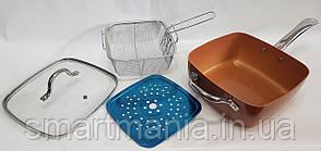 Сковородка-фритюрница 8 в 1 UNIQUE UN-5251-24см