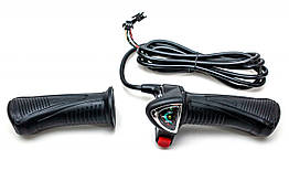 Комплект ручек газа Wuxing 62XDX, c индикацией заряда, кнопка включения, 48В