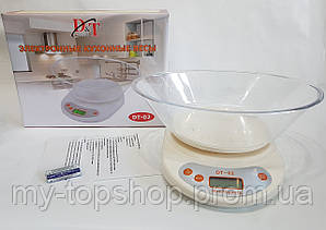Весы кухонные электронные с чашкой D&T  DT-02 до 5 кг