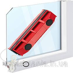 Щетка магнитная для мытья окон с двух сторон Glider для окон толщиной 2-8 мм.