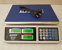Весы торговые электронные со счетчиком цены на 50кг ALFASONIC AS-A072 . Ровная платформа