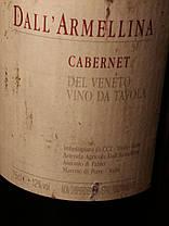 Вино 1994 года Далл'Армеллина Cabernet Италия, фото 3