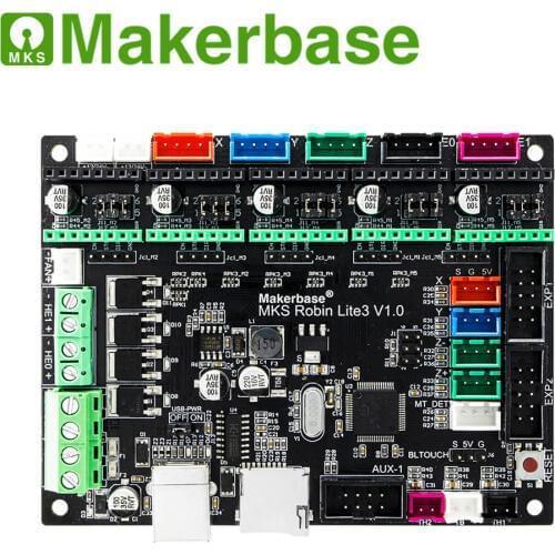 Плата управления MKS Робин Lite3  для 3D-принтера 32 бит.