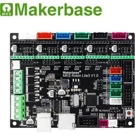 Плата управления MKS Робин Lite3  для 3D-принтера 32 бит., фото 2