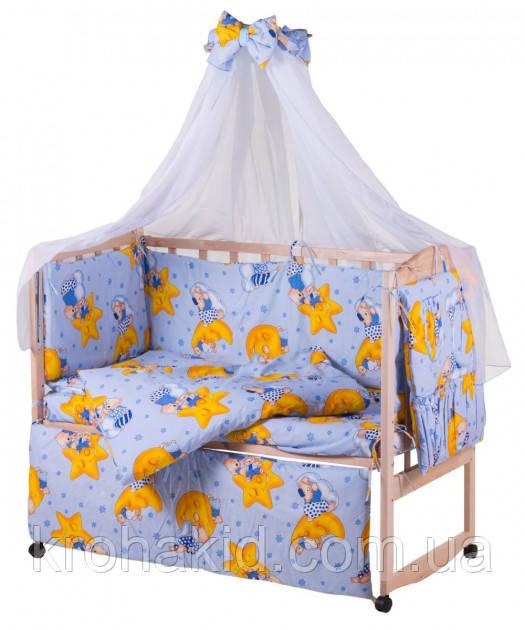 Набор детского постельного белья в кроватку 9в1 / Бортики в кроватку / Защита в манеж