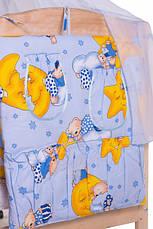 Набор детского постельного белья в кроватку 9в1 / Бортики в кроватку / Защита в манеж, фото 2