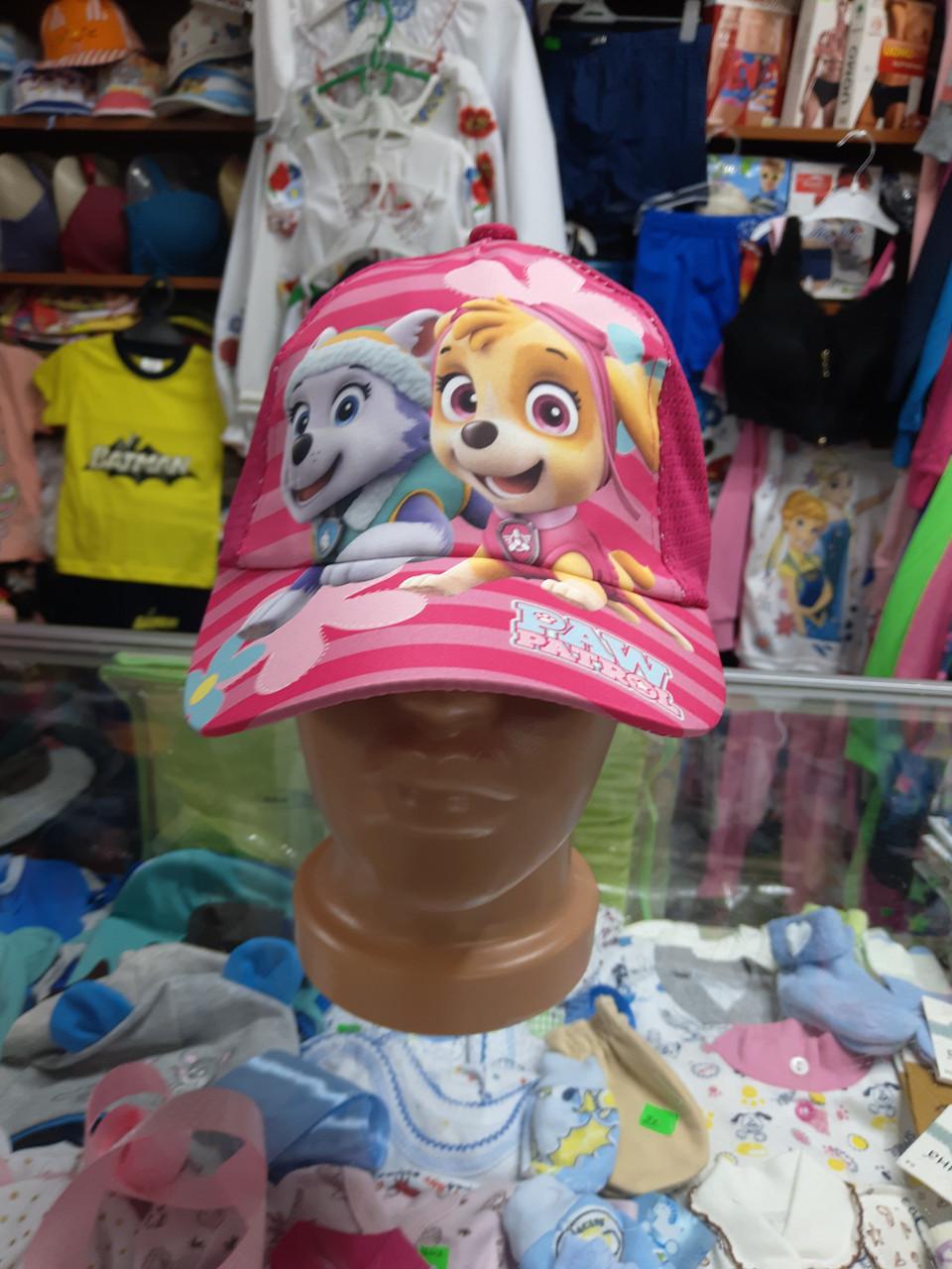 Бейсболка кепка детская для девочки Щенячий патруль 2 3 4 5 6  7лет