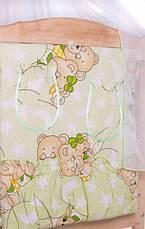 Набор детского постельного белья в кроватку 9в1 Qvatro Gold / Бортики в кроватку / Защита в манеж, фото 2