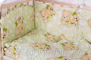 Набор детского постельного белья в кроватку 9в1 Qvatro Gold / Бортики в кроватку / Защита в манеж, фото 3