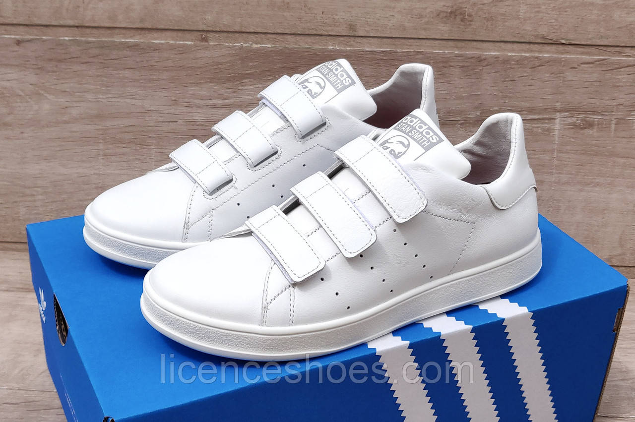 Жіночі кросівки Adidas Stan Smith Total White на ЛИПУЧЦІ. Натуральна шкіра