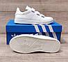 Женские кроссовки Adidas Stan Smith Total White на ЛИПУЧКЕ. Натуральная кожа, фото 3