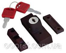 Блокировщик открывания окна(детский замок) с ключом коричневый