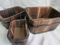 Кадки деревянные в 3 размерах, 250\230 (цена за 1 шт. +20 грн.)