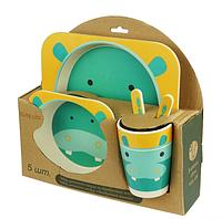 Набор детской посуды из 5 предметов бамбук Bamboo Fibre kids Set