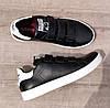 Женские кроссовки Adidas Stan Smith Black White на ЛИПУЧКЕ. Натуральная кожа, фото 3