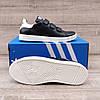 Жіночі кросівки Adidas Stan Smith Black White на ЛИПУЧЦІ. Натуральна шкіра, фото 5