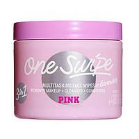 Очищающие влажные парфюмированные салфетки для лица Victoria's Secret One Swipe PINK Lavender 45 шт.