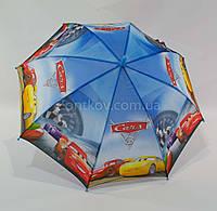 """Зонтик детский трость для мальчика """"cars 3"""" на 4-8 лет то фирмы """"Max"""", фото 1"""