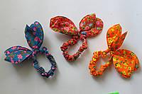Резинка-солоха (двойные ушки с цветами), фото 1
