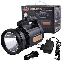 ✅ Мощный светодиодный фонарь TD 6000A 30 W | прожектор фонарик, лед ліхтар (Гарантия 12 мес)