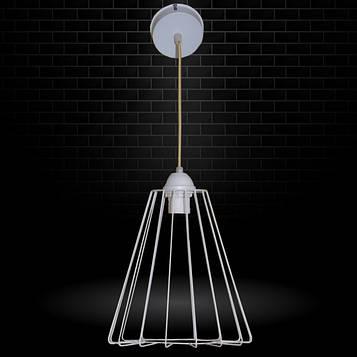 """Подвесной металлический светильник, современный стиль, loft, vintage, modern style """"RUFF-WP"""" Е27 белый цвет"""