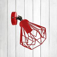 Настенный светильник, бра поворотное, потолочная лампа  SKRAB/LS красный