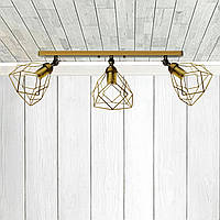 Настенный светильник, бра поворотное, потолочная лампа  RUBY/LS-3 золото