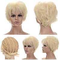 Парик стрижка из термоволос 180 Amelia AT цвет блондин с теплым оттенком