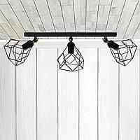 Настенный светильник, бра поворотное, потолочная лампа  RUBY/LS-3 черный