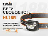 Фонарь налобный Fenix HL18R черный, фото 6