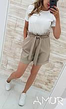 Летний костюм женский Футболка и шорты Размер 42 44 46 48 50 52 54 В наличии 5 цветов