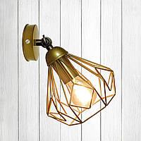 Настенный светильник, бра поворотное, потолочная лампа  SKRAB/LS золото
